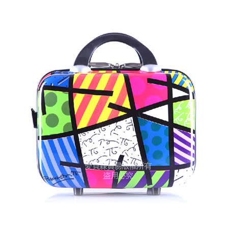 AOU&美國BRITTO 旅行箱 化妝箱 行李箱 時尚潮流連線(幾何)97-001-D2