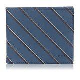 Tommy Hilfiger 2015男品味魅力鈷藍色條紋雙折皮夾【預購】