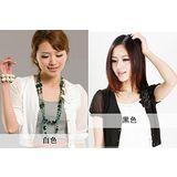【韓系女衫】雪紡袖針織玫瑰花小披肩(七分袖/短袖)