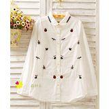 【Maya Collection森林系】刺繡逗趣的蟲蟲夏日大探險襯衫