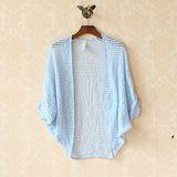 【Maya Collection森林系】日系針織方形縷空披肩式開衫外套