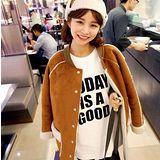 【Maya Girl】秋冬保暖 羽量級 外套 長大衣 白羔羊絨內裡 潮流百搭款