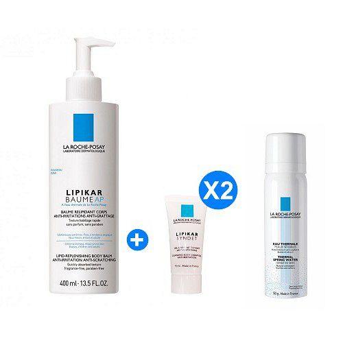理膚寶水 理必佳修護滋養霜 400ml+溫泉舒緩噴液 50ml+理必佳修護滋養霜 15ml*2