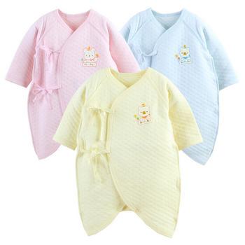 【2件入】日本熱銷保暖連身長袖空氣棉蝴蝶衣(女寶寶-兩件入)