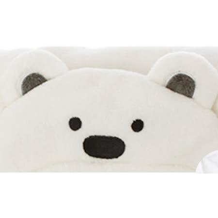 珊瑚絨動物造型連帽毛毯嬰兒包被(白色)