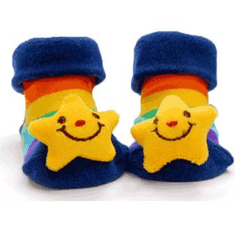 立體造型襪新生防滑地板襪(男款花色隨機四入)