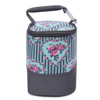 【Colorland】母乳保冷運輸袋副食品保溫袋(灰色糖果花)