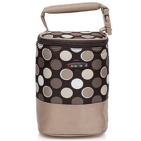 【Colorland】母乳保冷運輸袋副食品保溫袋(咖啡圓點)