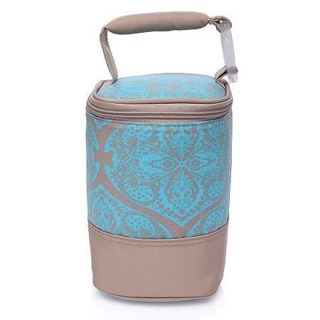 【Colorland】母乳保冷運輸袋副食品保溫袋(蠟染花卡其)
