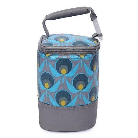 【Colorland】母乳保冷運輸袋副食品保溫袋(地球花灰色)