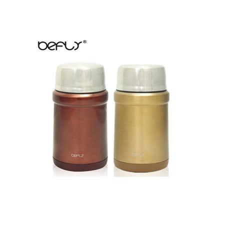 【日本-BEFLY】304不鏽鋼附匙真空悶燒罐500ML(第二代)經典色