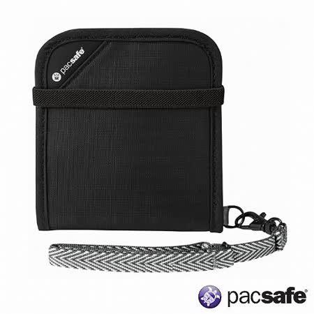 Pacsafe RFIDSAFE V100防盜皮夾(黑色)