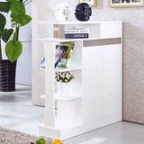 【幸福屋】 清邁3.3尺白色吧檯鞋櫃