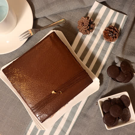 【艾波索】巧克力黑金磚方型6吋