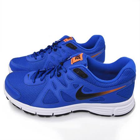 NIKE男款 REVOLUTION 2 MSL 輕量運動跑鞋554954409-藍