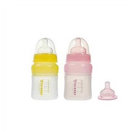 優生矽晶奶瓶(寬口S)粉+贈M奶嘴