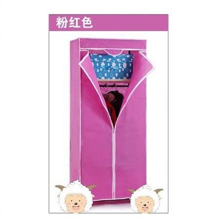 韓 式 風 格 雙 層 小 衣 櫥~粉 紅 色