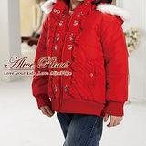 【Alice Place】 紅色繡花帶帽外套