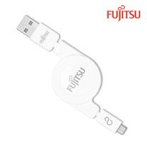 FUJITSU富士通MICRO USB收捲式傳輸充電線
