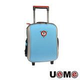 【UnME】輕型拉桿後背兩用書包(粉藍)