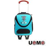 【UnME】輕型拉桿後背兩用書包(藍綠)