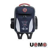 【UnME】輕型拉桿後背兩用書包(藍色)