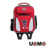 【UnME】輕型拉桿後背兩用書包(紅色)