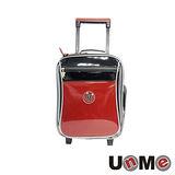 【UnME】亮面素色輕型拉桿書包(紅色)