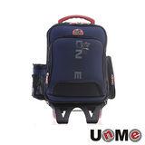 【UnME】輕型拉桿後背兩用書包-藍色(U3327)