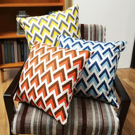 IN HOUSE-繽紛系列-孔雀-精梳棉時尚抱枕