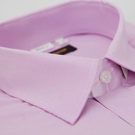 【金安德森】粉紫色細紋窄版長袖襯衫