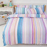 LAMINA  北歐神話-紫  雙人加大四件式床包被套組