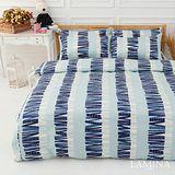 LAMINA  印象派-藍  雙人加大四件式精梳棉床包被套組