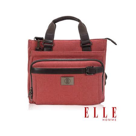ELLE HOMME 新款上市米蘭精品魅力II手提/側背公事包款13寸筆電扣層設計-橘紅EL82332-41