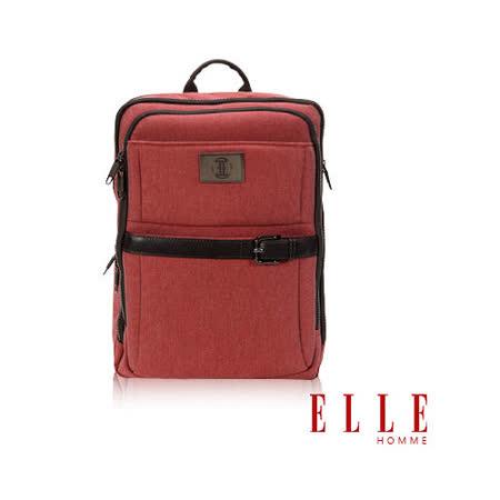 ELLE HOMME 新款上市 米蘭精品魅力II機能後背包14寸筆電-橘紅EL83822-41