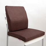 《Embrace英柏絲》辦公室 記憶坐靠墊組-壓紋咖啡(100%記憶綿護腰墊+坐墊)