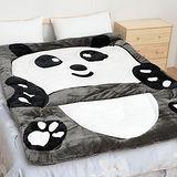 超保暖法蘭絨厚毯被 (Panda熊貓) 150x200cm 超柔觸感 《Embrace英柏絲》