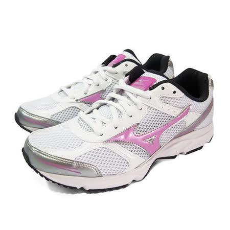 (女)MIZUNO美津濃 MAXIMIZER 17 慢跑鞋 白/粉紅-K1GA150165