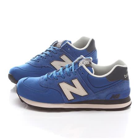 New Balance 男款 經典復古運動鞋ML574PCB-藍