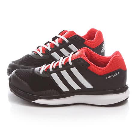Adidas 中大童 復古運動跑鞋B26756-黑紅