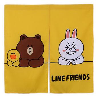 LINE開心排排坐-門簾(85*85cm)