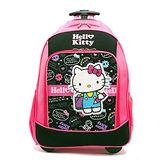 DF 童趣館 - Hello Kitty 凱蒂貓繪畫甜心2段式拉桿書包後背包-桃配黑