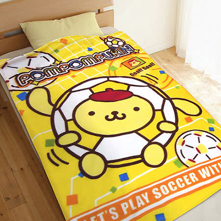 【享夢城堡】布丁狗足球 刷毛毯
