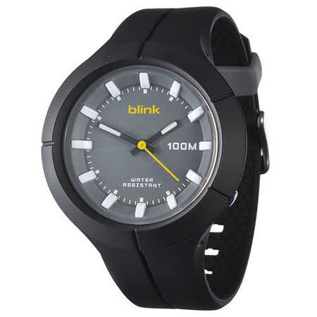 JAGA捷卡-blink AQ1008-A果凍繽紛潮流防水指針錶(黑)