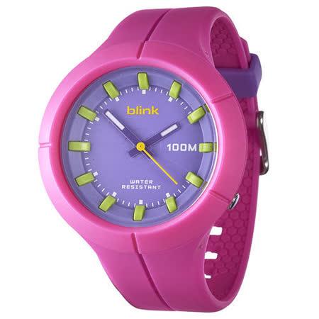 JAGA捷卡-blink AQ1008-G果凍繽紛潮流防水指針錶(粉)
