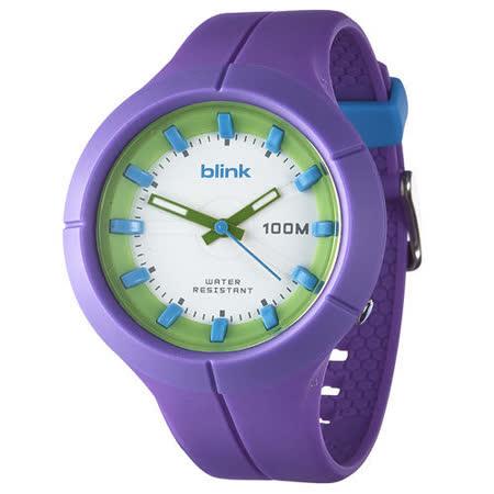 JAGA捷卡-blink AQ1008-J果凍繽紛潮流防水指針錶(紫)