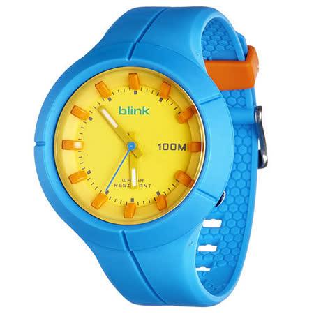 JAGA捷卡-blink AQ1008-E果凍繽紛潮流防水指針錶(藍)