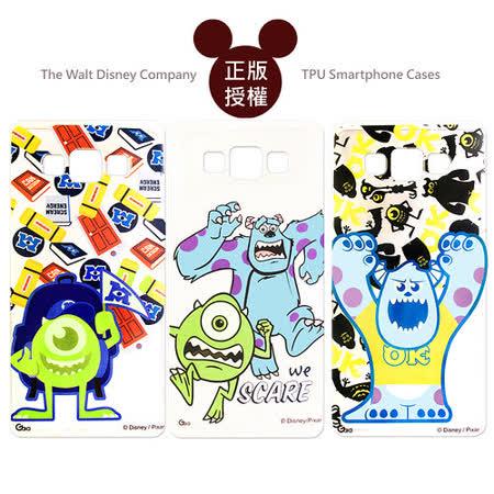 迪士尼授權正版 三星 Samsung Galaxy A3 透明彩繪軟式保護殼 手機殼(怪獸大學款)
