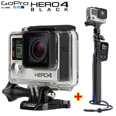 GOPRO HERO 4 Black Edition 頂級旗艦 黑色版+28吋智慧延長桿