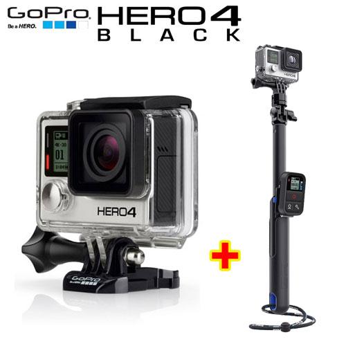 GOPRO HERO 4 Black 夜視功能行車紀錄器Edition 頂級旗艦黑色版+39吋附智慧坐延長桿